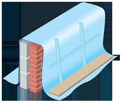 Защита незавершенной кладки и новой стены от влаги и промерзания