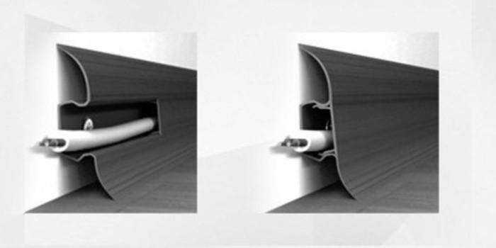 Фото. Плинтус с кабель каналом маскирует проводку